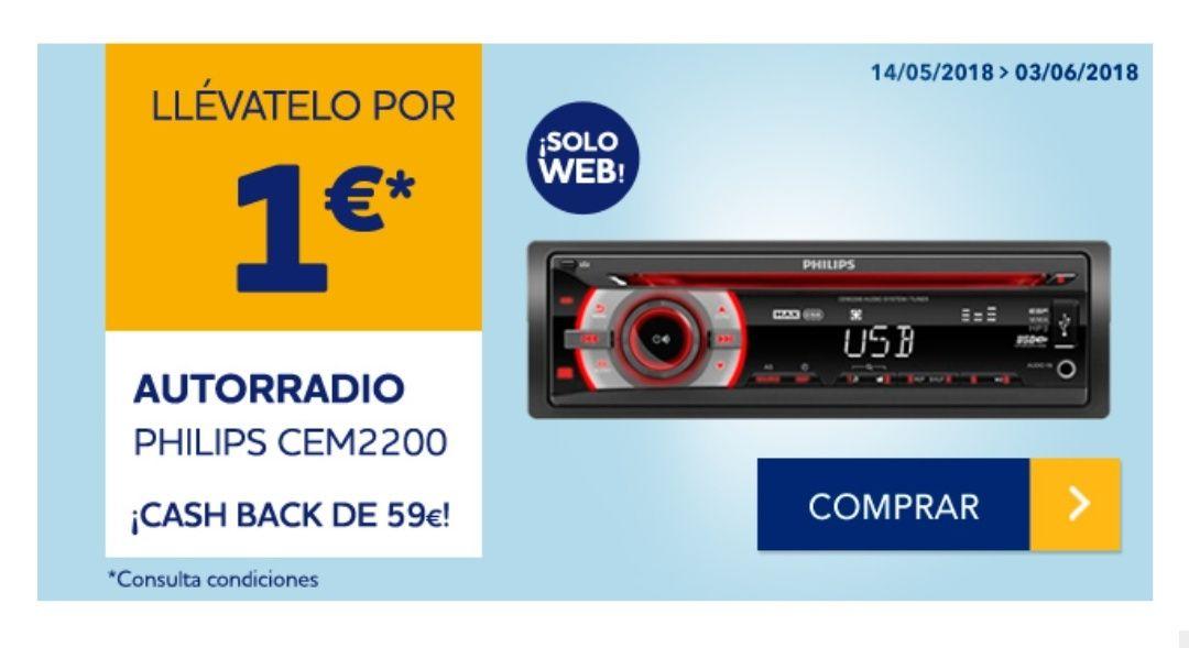 Autorradio Philips CEM2200 por solo 1€!