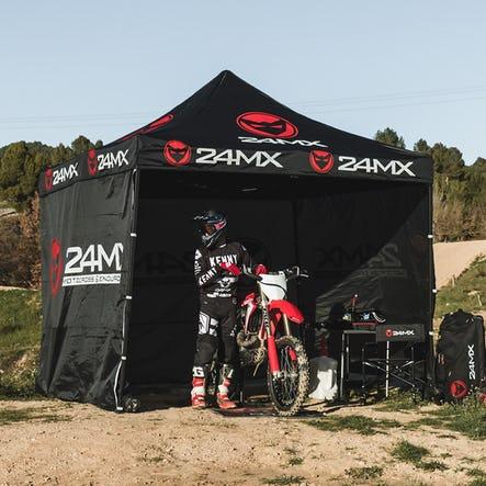 Carpa 24MX Easy-Up 3x3 m con Paredes Negro