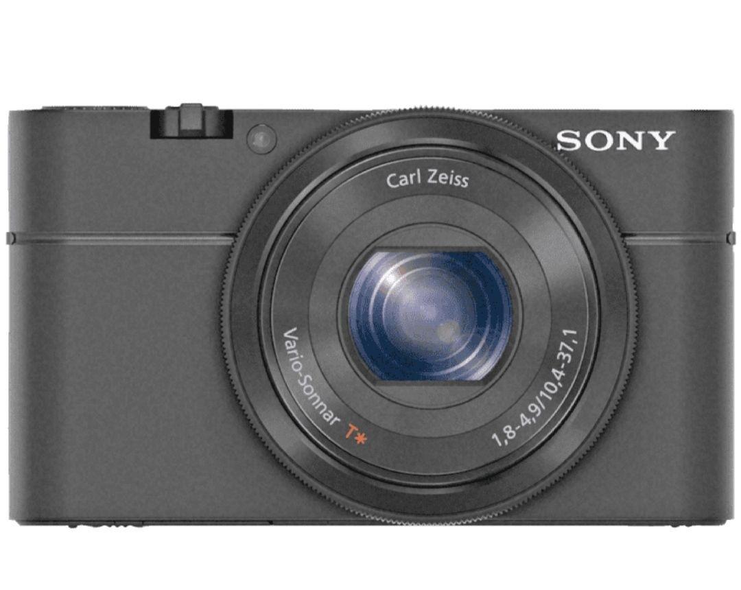 Cámara compacta Cámara - Sony DSC-RX100, Sensor CMOS, Apertura f/1.8, Lente Zeiss, Full HD, 20 Mp