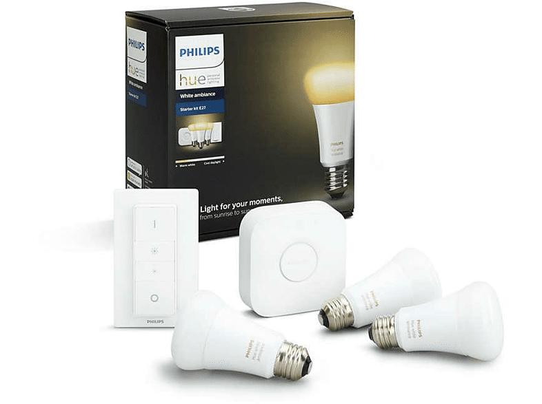 Philips Hue 3 bombillas, puente y mando