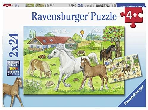 2 puzzles infantiles de 24 piezas cada uno incluye mini carteles marca Ravensburguer