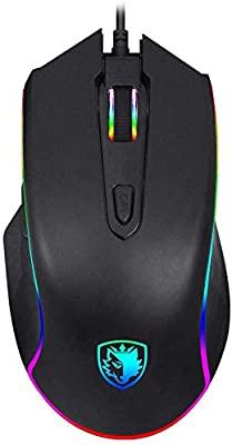 SADES Ratón Gaming,3500 DPI ratón para juegos RGB alámbrico