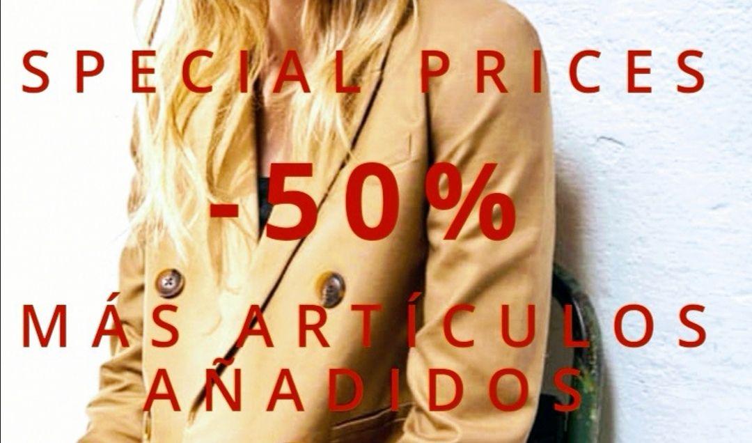 Special Prices - 50% de descuento más artículos añadidos.