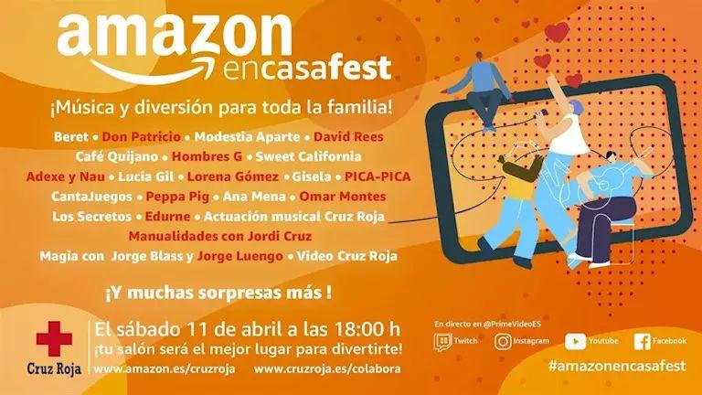 Concierto solidario online: Amazon en Casa Fest