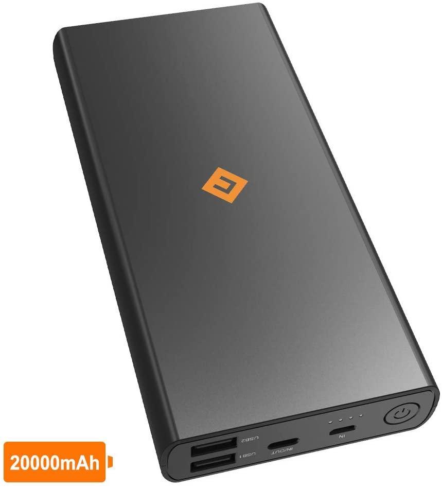 NOVOO - Batería Externa 20000mAh con 3 Puertos (1 USB-C & 2 USB-A)