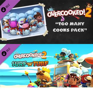STEAM y GOG :: Quédate gratis DLC Overcooked! 2 - Too Many Cooks y Surf 'n' Turf (16-21 de abril)