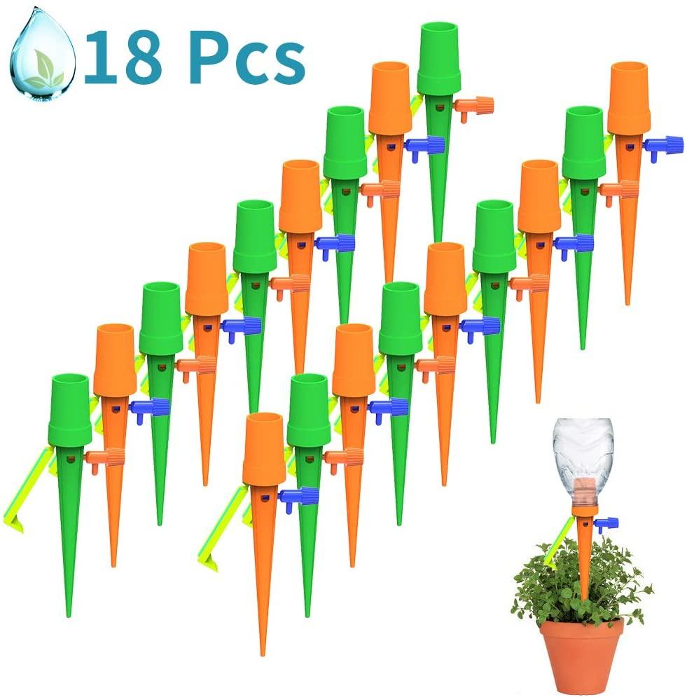 Pack de 18 válvulas de riego automático para plantas