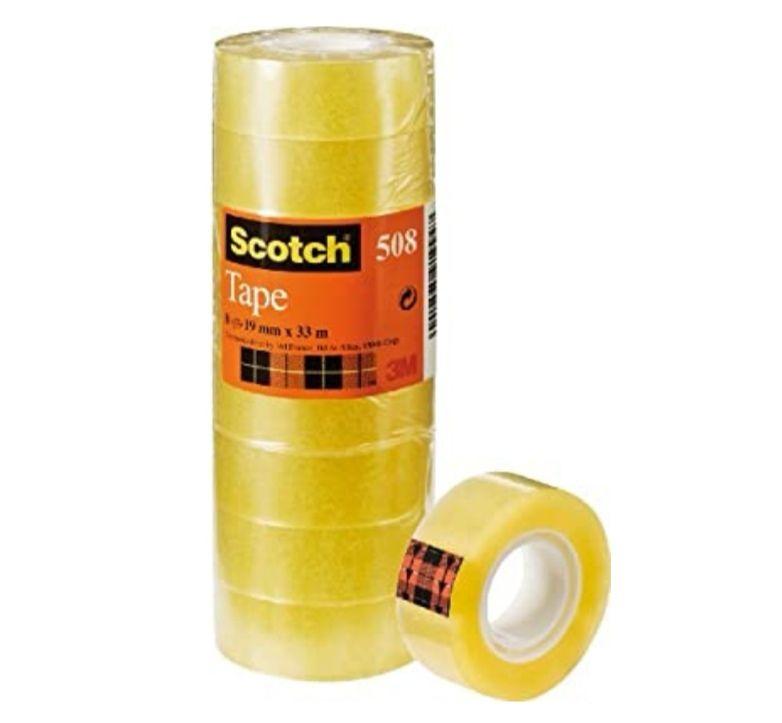 8 Rollos de Cinta adhesiva de 19mm x 33m( precio al tramitar)