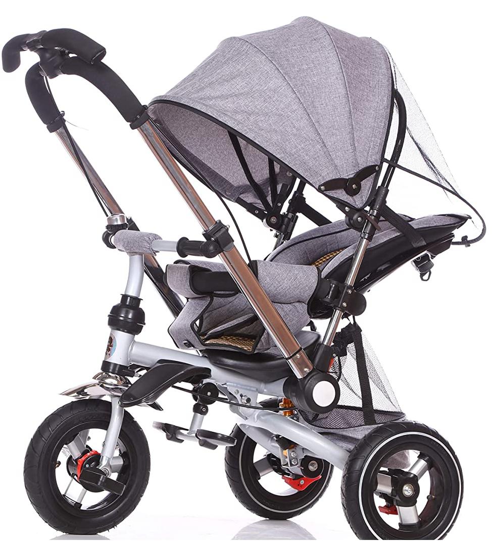 Triciclo silla de paseo Juguea GRIS