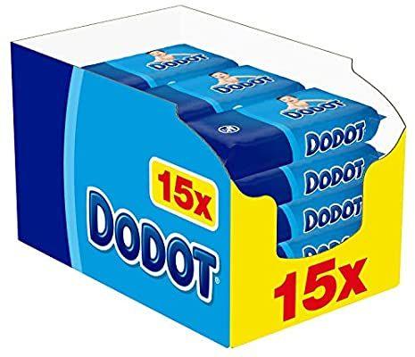 Dodot Toallitas para Bebé 15 Paquetes de 64 Unidades, 960 Toallitas (Compra recurrente)