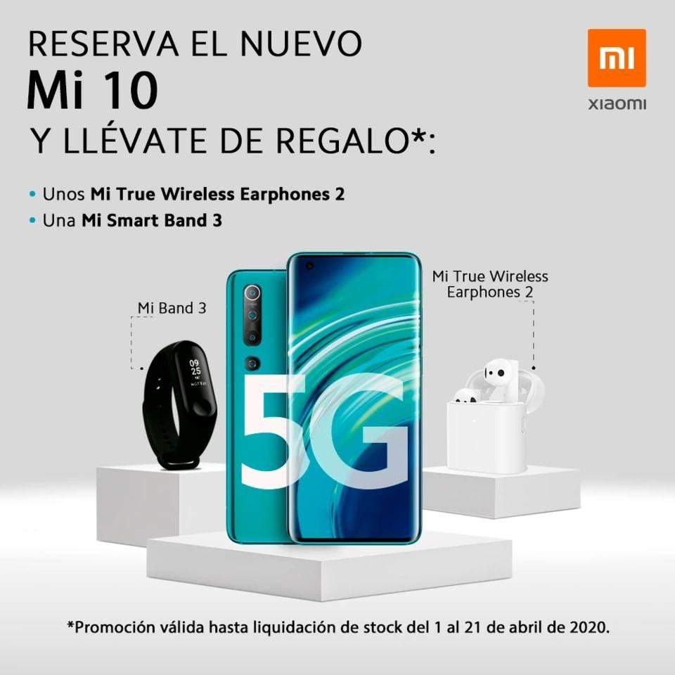Xiaomi Mi 10 + Mi True Wireless Earphones Pro + Mi Band 3 desde España!!!
