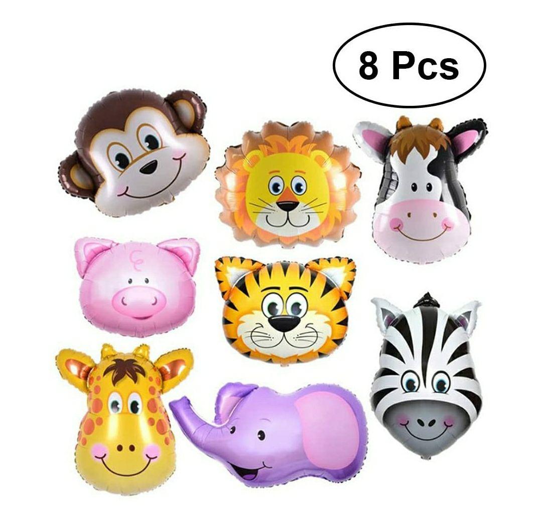 8 globos de animales