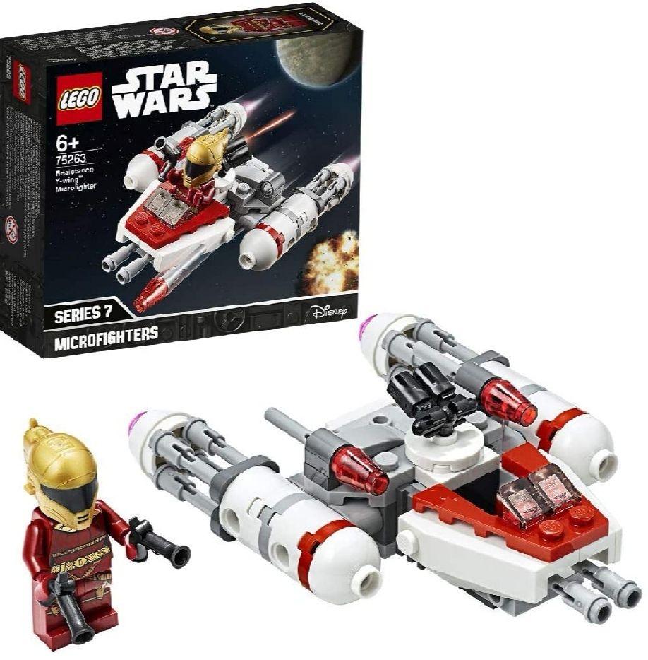 LEGO Star Wars - Microfighter: Ala-Y de la Resistencia,Guerra de las Galaxias.Con Torreta Giratoria y Minifigura de Zorii Bliss.