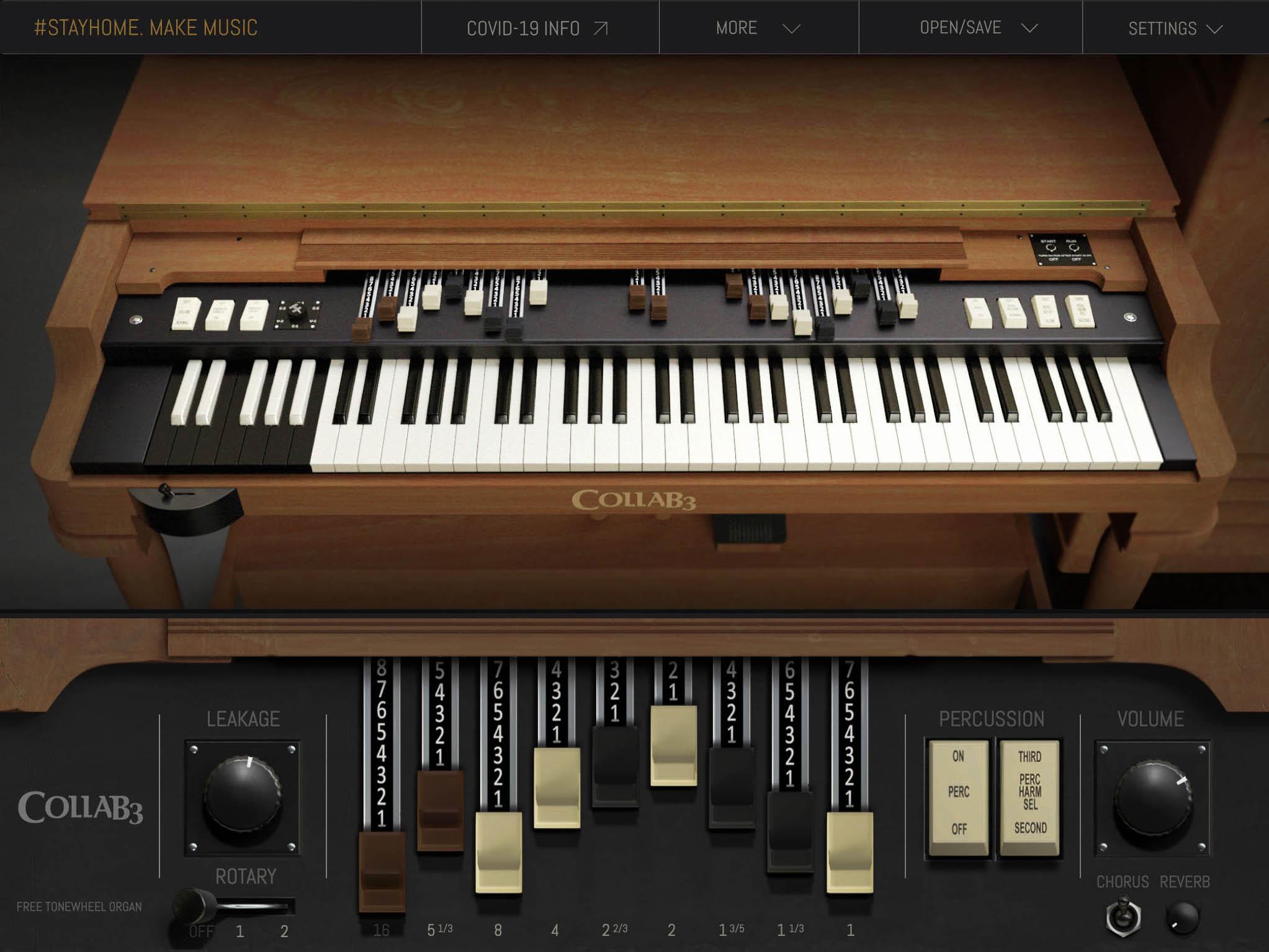 Gratis Instrumento virtual estilo Hammond B3 en formato VST/AU y Standalone Win Mac y Linux