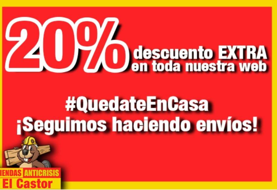 20% de descuento en toda la web tienda anticrisis El Castor