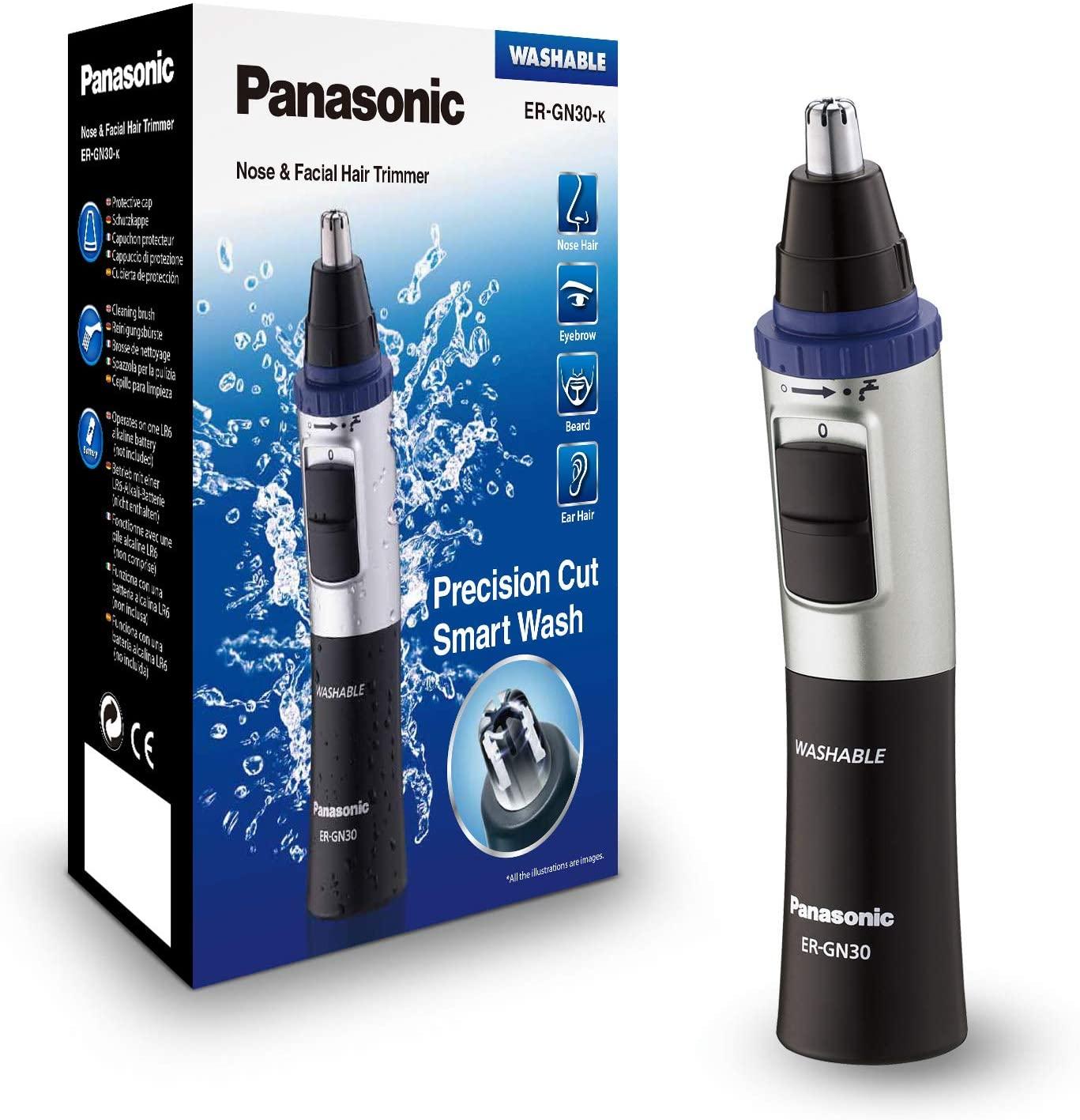 Panasonic Recortador de Vello Facial (Nariz, Oreja, Cejas y Bigote, Acero Inoxidable