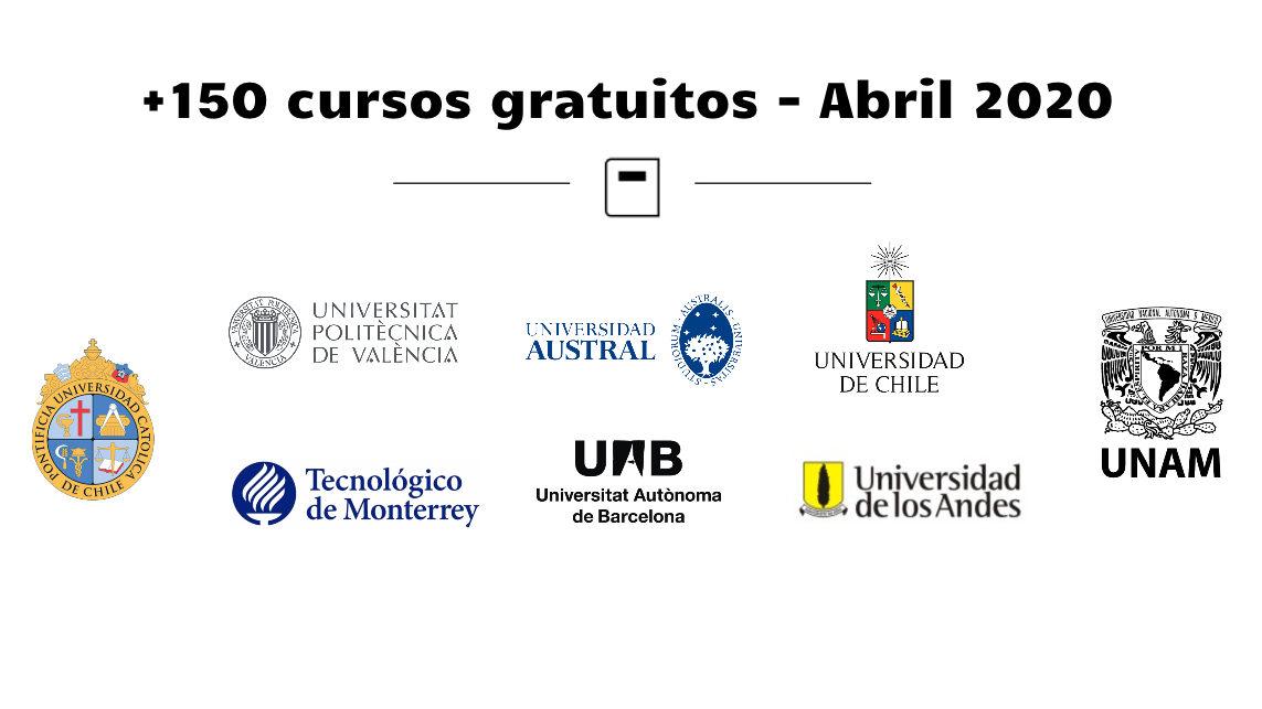 +150 CURSOS GRATUITOS PARA HACER DESDE CASA – ABRIL 2020