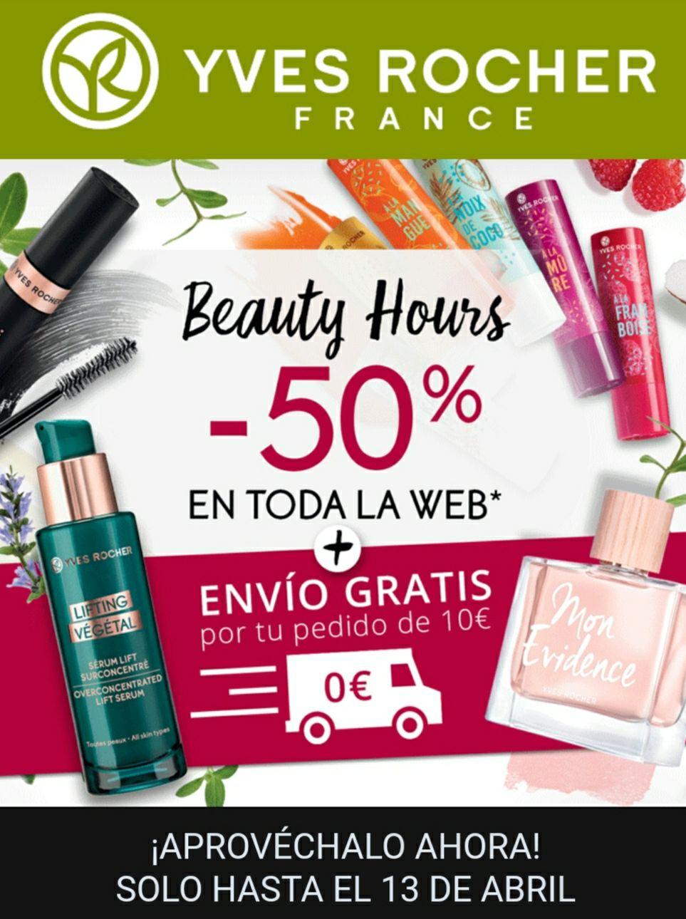 50% en toda la web Yves Rocher
