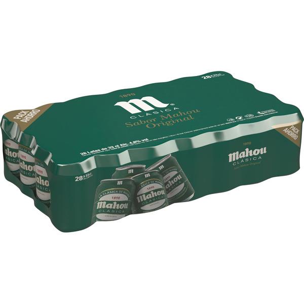MAHOU CLASICA 2xpacks con 56 latas 33 cl
