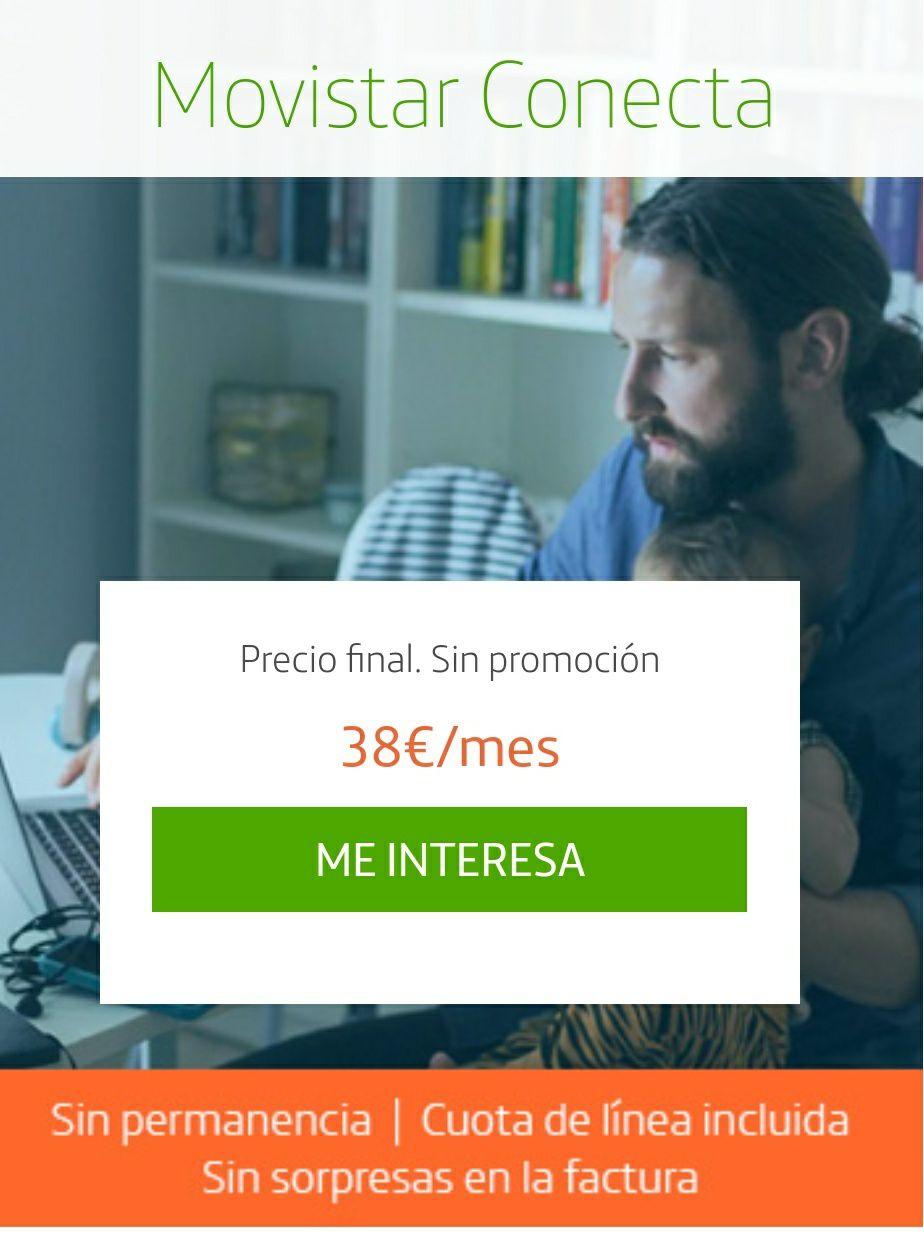 Movistar Conecta - Fibra 300 Mbps + Fijo
