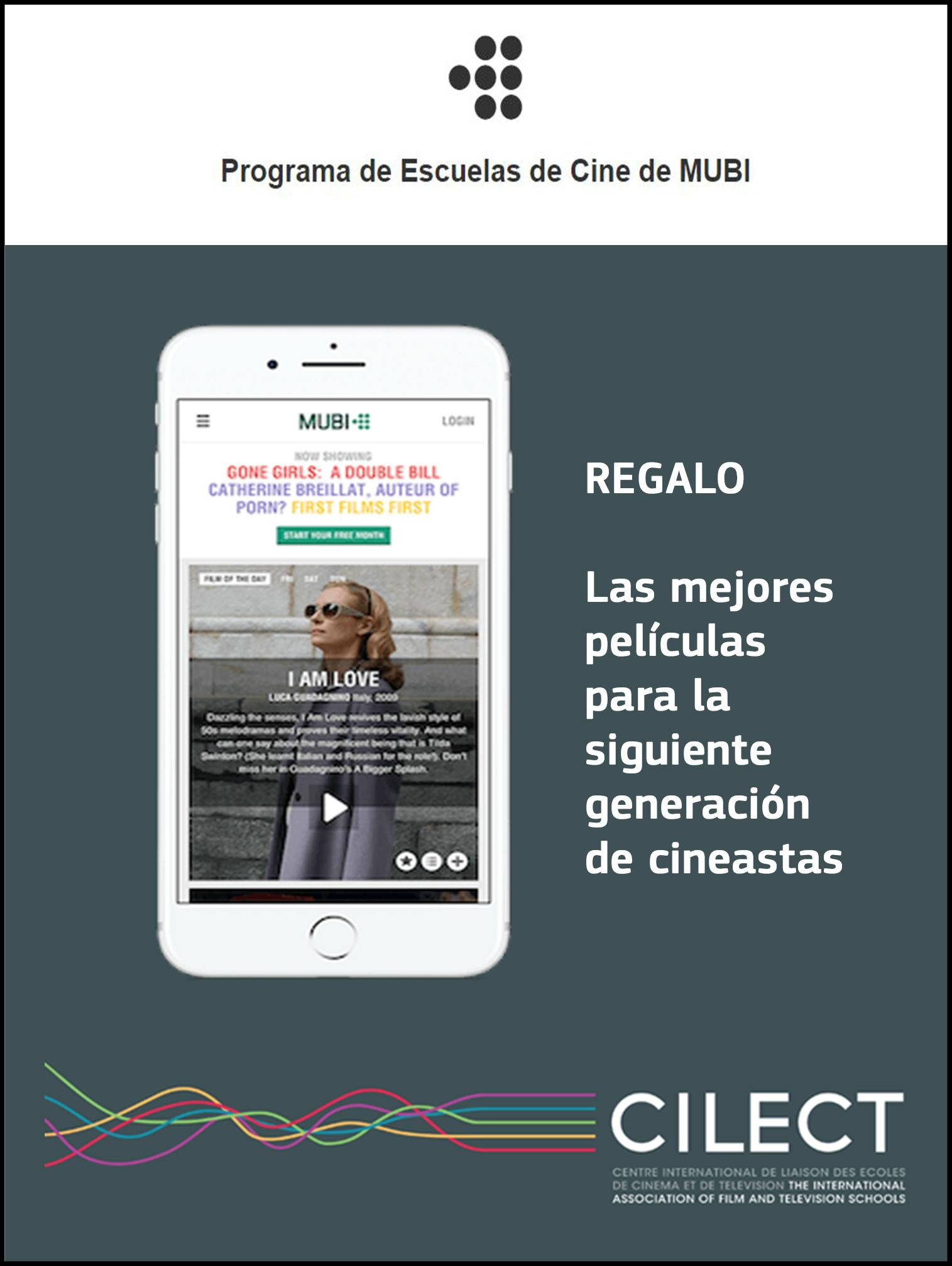 MUBI gratis para estudiantes y profesores (Programa de Escuelas de Cine)