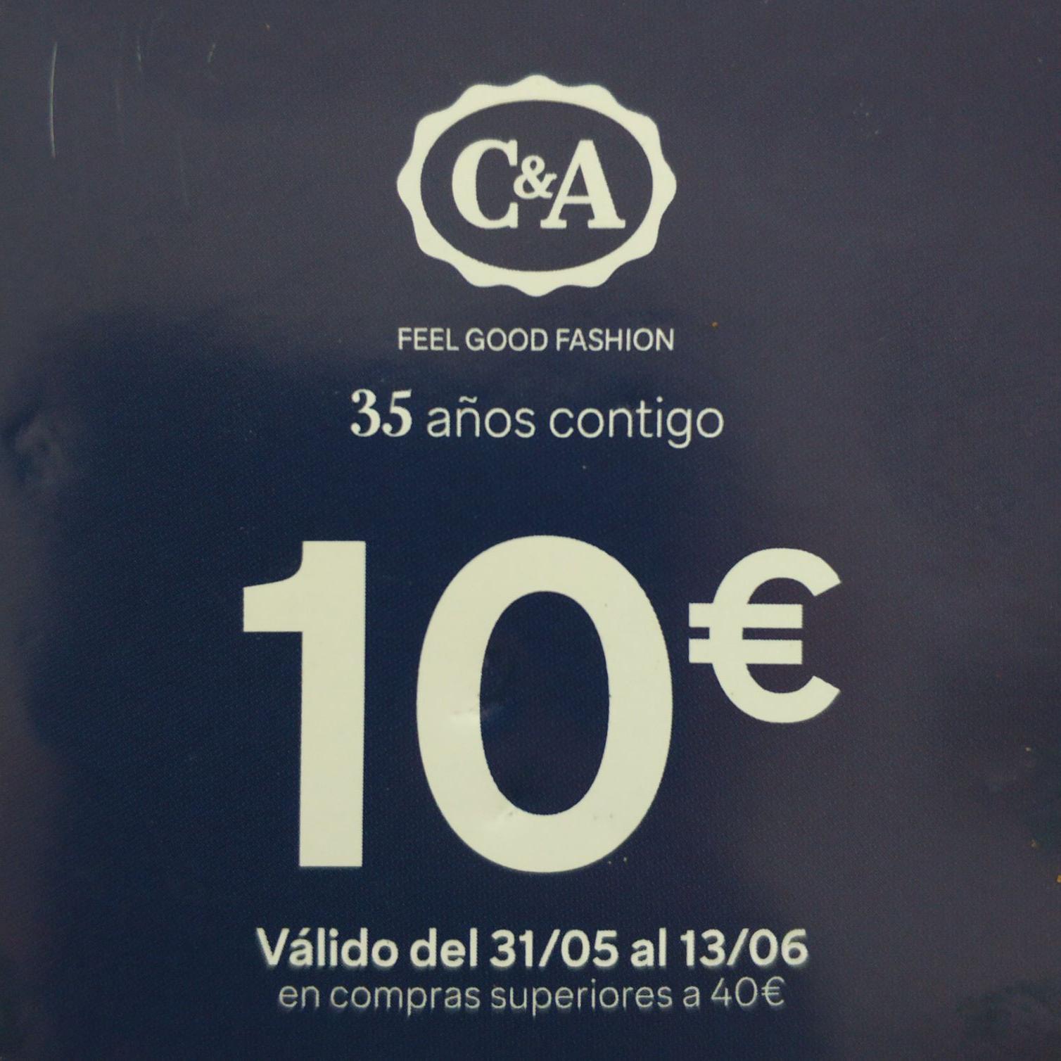 10 euros de descuento en C&A