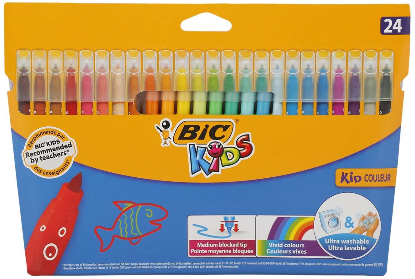 24X Rotuladores BIC Kids Kid Couleur Ultralavables (Precio al tramitar)