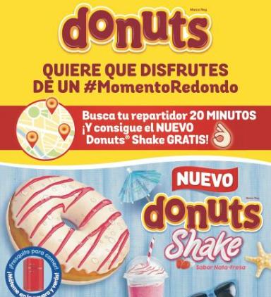 Nuevo Donuts Shake gratis este viernes con el periódico 20 minutos