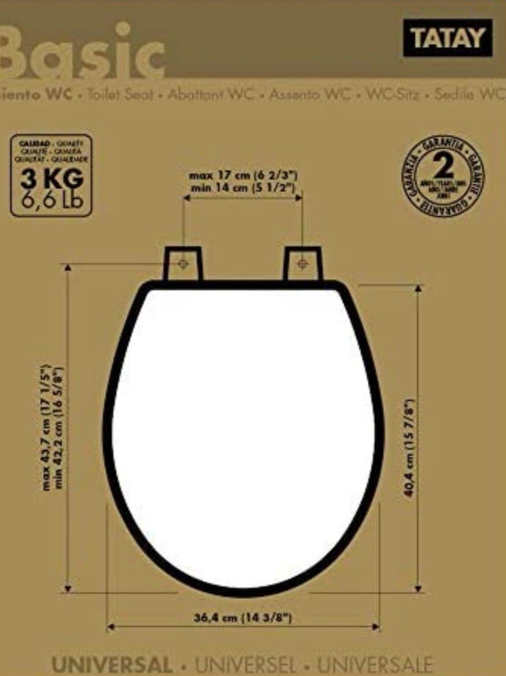 TATAY - Tapa y Asiento universal para Inodoro, color Blanco(Precio al tramitar)