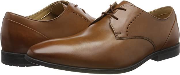 Clarks Bampton Lace, Zapatos de Cordones Brogue para Hombre.