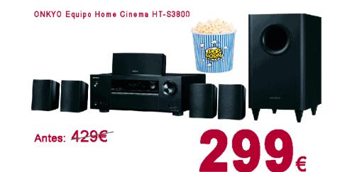 ONKYO HT-S3800 Conjunto Equipo Home Cinema 5.1. 100W por Canal