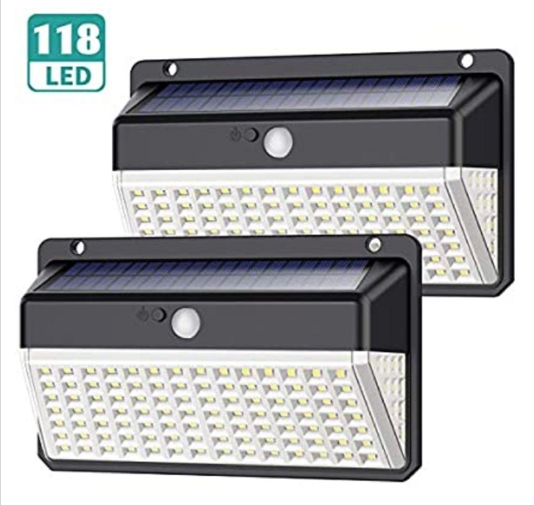 2 focos solares 118 LED