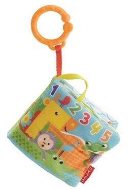 Fisher-Price Libro activity bebé, juguete colgante para bebé recién nacido (Mattel FGJ40)