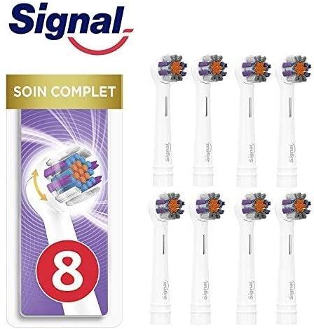 Signal Integral 8 Cabezales. Compatible con Oral-B (Paquete de 4 x 2 unidades)