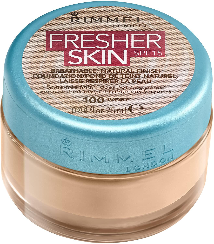 Base de maquillaje Fresher Skin de Rimmel London - tono 101 classic ivory