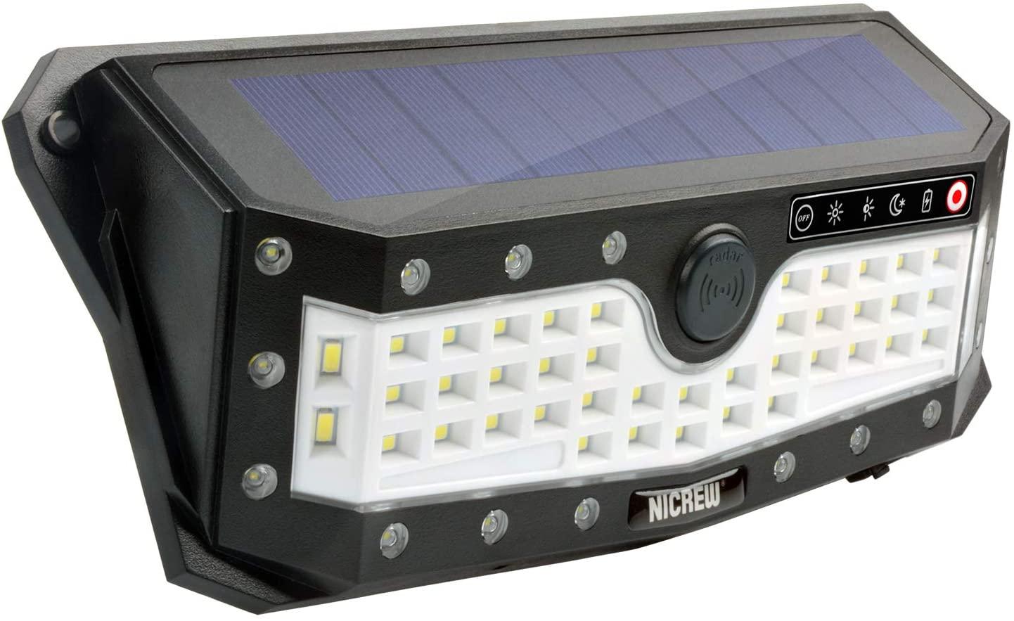 NICREW Luz Solar Jardín - Foco 57 LEDs