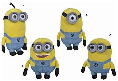 4 peluches Minions 25cm