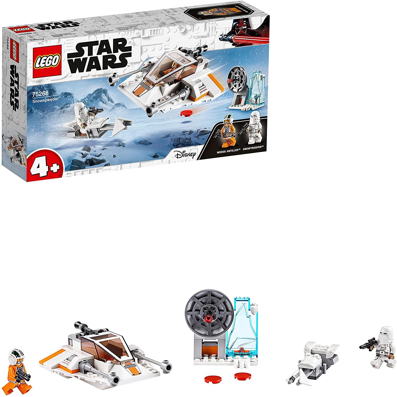 LEGO Star Wars. Speeder de nieve + estación de defensa + moto de nieve + 2 figuras