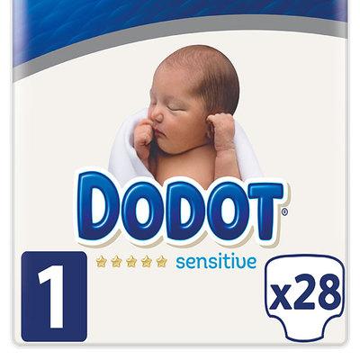Pañales Dodot sensitive tallas 1. 50% descuento en segunda unidad