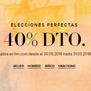40% descuento en artículos seleccionados en HM