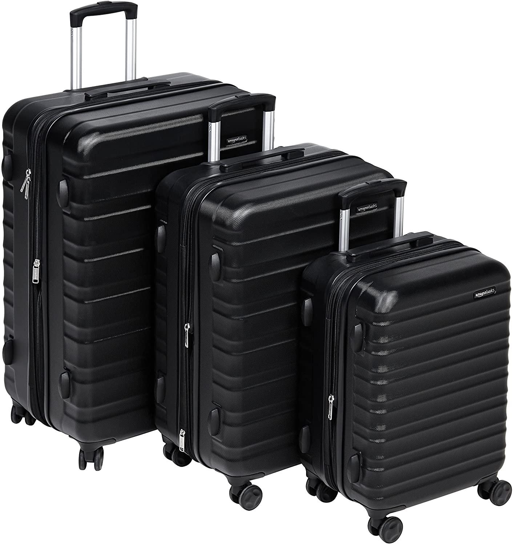 Juego 3 maletas rígidas (55 cm, 68 cm, 78 cm) (AmazonBasics)