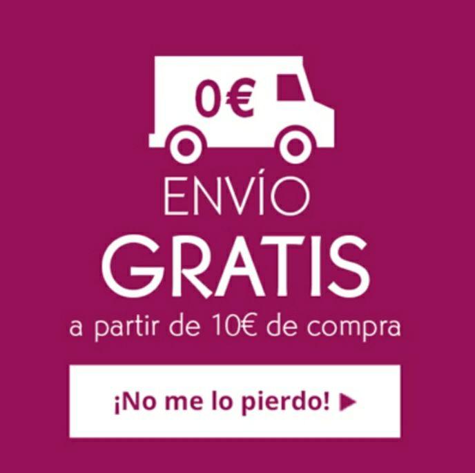 Envíos gratis a partir de 10€ y dos regalos
