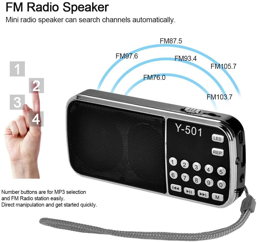 Radio FM con linterna por 2,99€