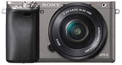 Sony Alpha 6000 - Cámara EVIL de 24.3 MP + SEL P1650, color negro y gris