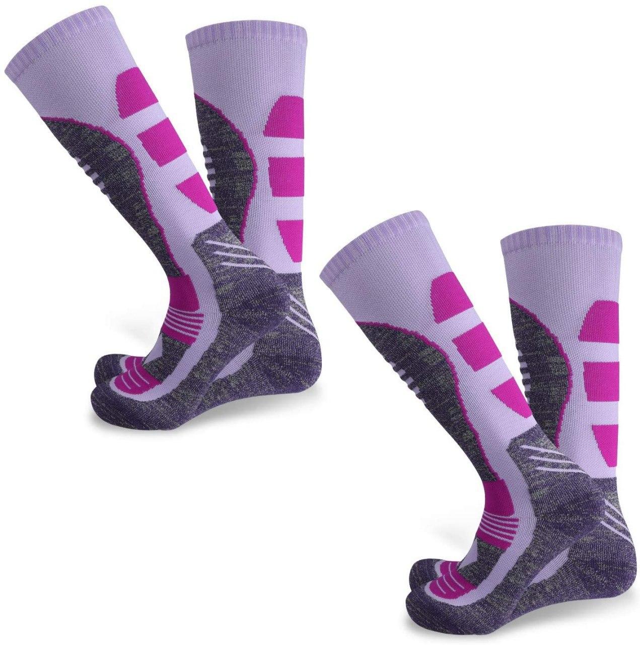 2 pares de calcetines térmicos de esquí, snowboard,...