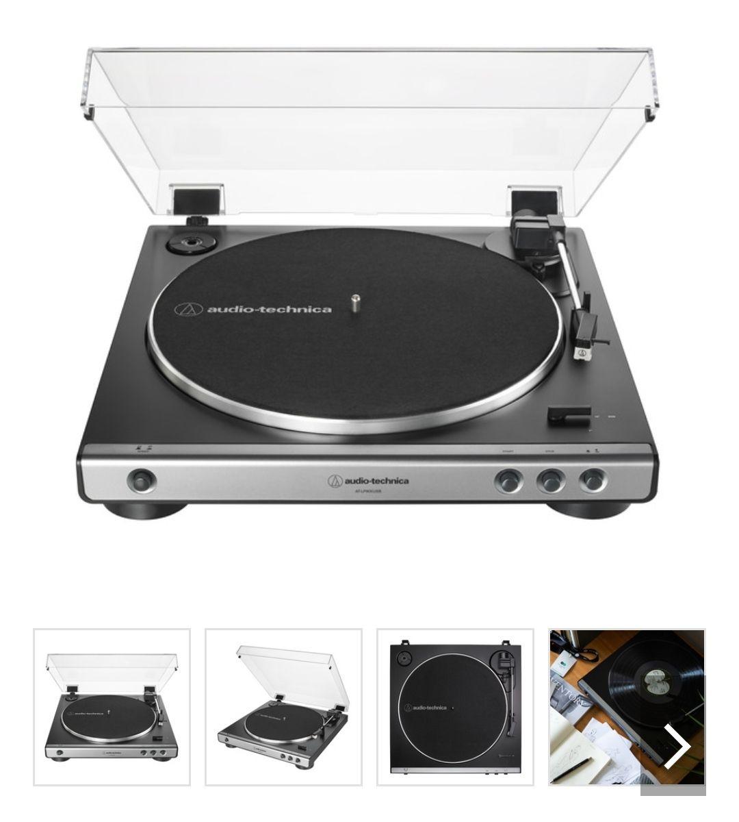 Tocadiscos Audio Technica AT-LP60XUSBGM (analógico y USB) también en Amazon