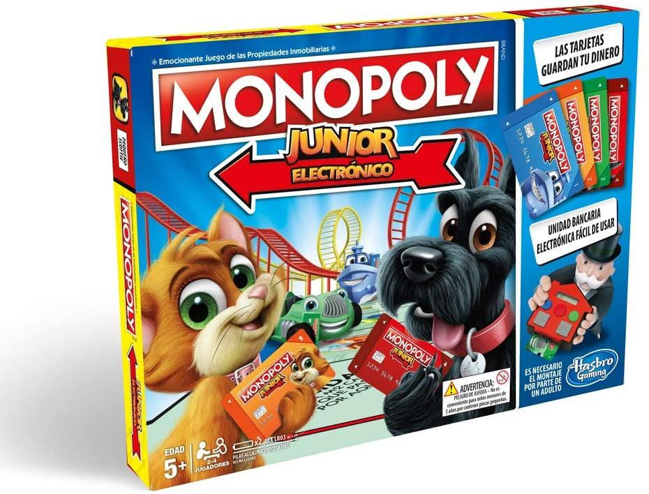 Hasbro - Juego de mesa Monopoly Junior Electronico