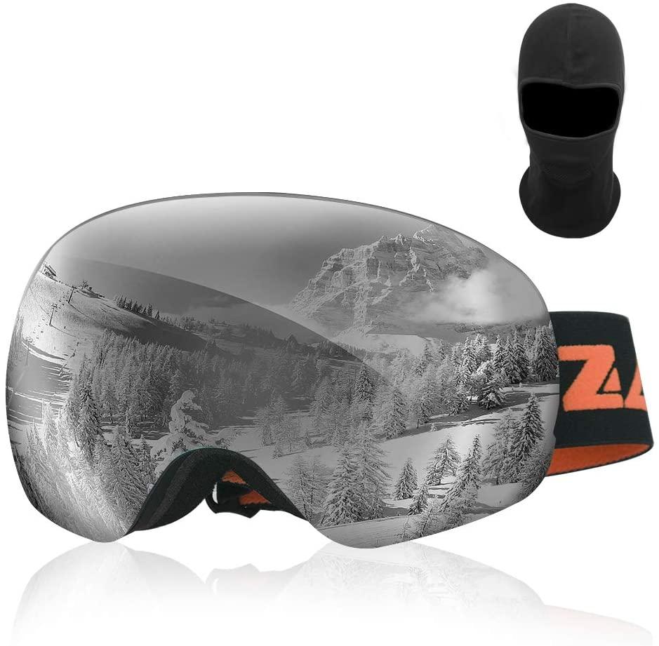 Zacro Gafas de Esquí UV400 + Pasamontañas
