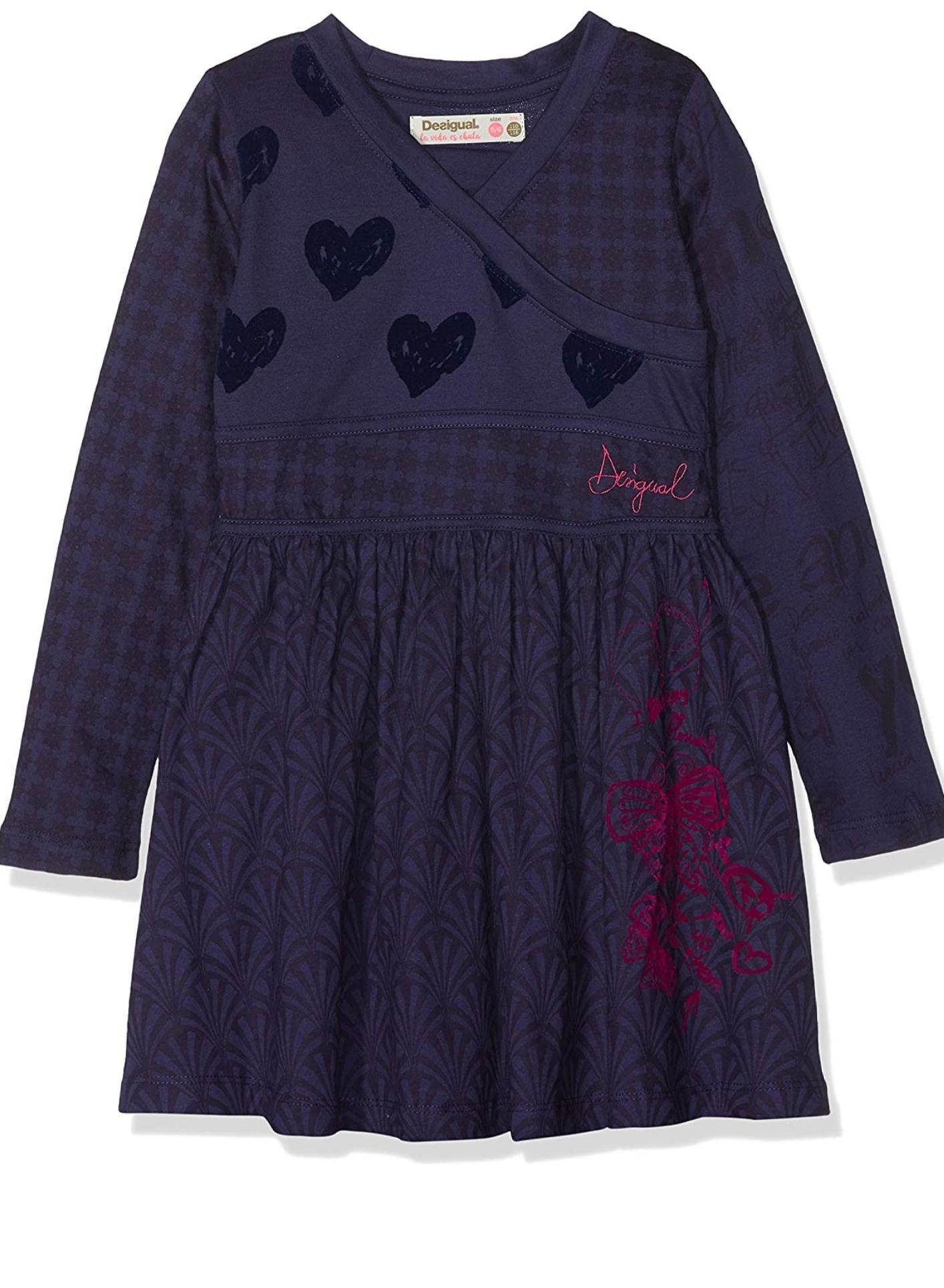 Vestido Desigual para niña-Talla 5/6 años