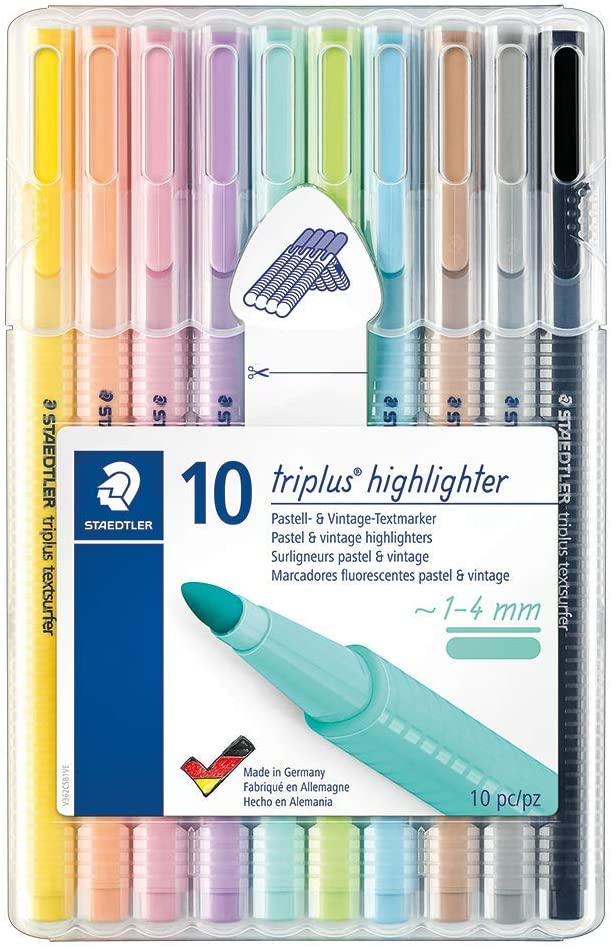 Pack de marcadores fluorescente delgados de Staedtler